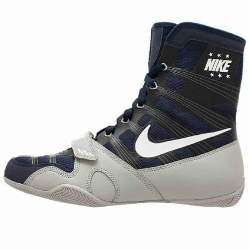 Nike Hyper KO Boxing Boots - Navy/Silver/White